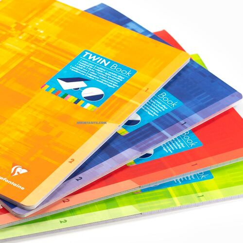 Clairefontaine Twin Book 24x32cm 2 Bölümlü Seyes Defter Blue 63631C 3720