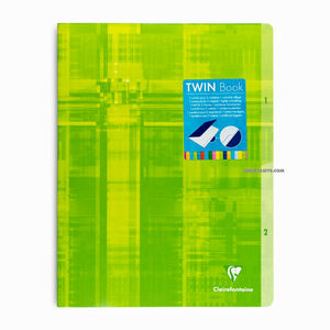 Clairefontaine Twin Book 24x32cm 2 Bölümlü Seyes Defter Green 63631C 6314 - Thumbnail