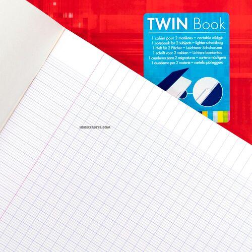 Clairefontaine Twin Book 24x32cm 2 Bölümlü Seyes Defter Orange 63631C 3737