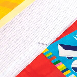 Clairefontaine Twin Book 24x32cm 2 Bölümlü Seyes Defter Red 63631C 3713 - Thumbnail