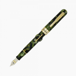 Conklin - Conklin Mark Twain Crescent Filler Dolma Kalem Vintage Green Medium Uç CK71762 7622