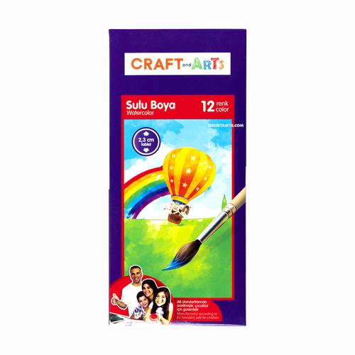 Craft And Arts 12 Renk Sulu Boya Seti 2.3mm Tablet 8887