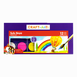 Craft and Arts - Craft And Arts 12 Renk Sulu Boya Seti 3mm Tablet 6223