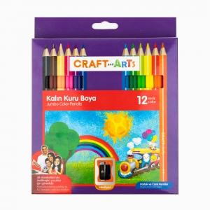 Craft and Arts - Craft and Arts 12'li Kalın Kuru Boya Seti 2464