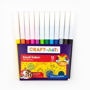 Craft and Arts - Craft and Arts 12'li Keçeli Kalem Seti 0633