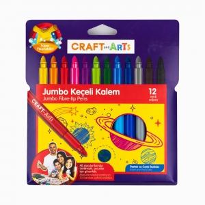 Craft and Arts - Craft and Arts 12′li Jumbo Keçeli Kalem Seti 0671