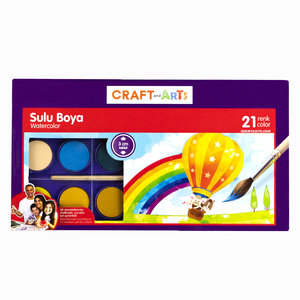Craft and Arts - Craft And Arts 21 Renk Sulu Boya Seti 3mm Tablet 6230