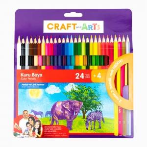 Craft and Arts - Craft and Arts 24+4 Renk Kuru Boya Seti 1207