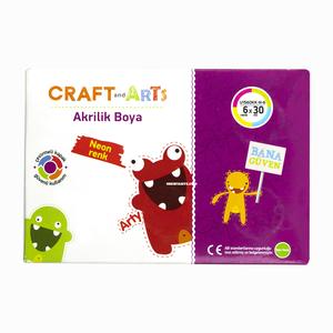 Craft and Arts - Craft and Arts 6 Renk 30ml Neon Akrilik Boya Seti 1574