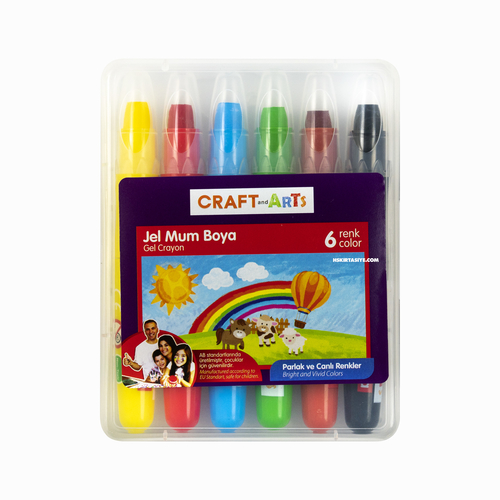 Craft And Arts 6 Renk Jel Mum Boya 3530