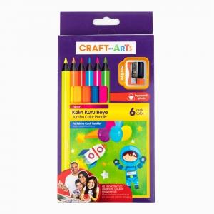 Craft and Arts - Craft and Arts 6′lı Neon Kalın Kuru Boya Seti 1221