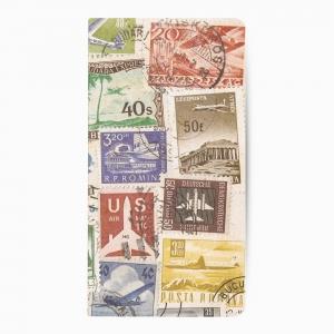 Deffter - Deffter Airplane Postage Stamp Çizgisiz Defter 3611