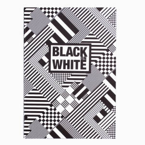 Deffter - Deffter Black on White Siyah Defter ECLECTIC 3345
