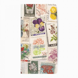 Deffter - Deffter Flowers Postage Stamp Çizgisiz Defter 3635