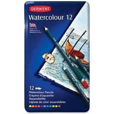 Derwent Watercolour Pencil 12'li Teneke Kutu