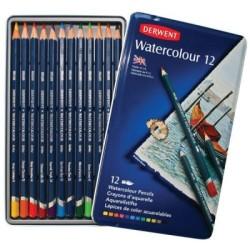 Derwent Watercolour Pencil 12'li Teneke Kutu - Thumbnail