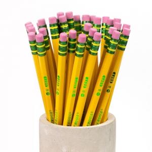 Dixon TICONDEROGA #2 HB Soft Silgili Ahşap Kurşun Kalem Sarı - Thumbnail