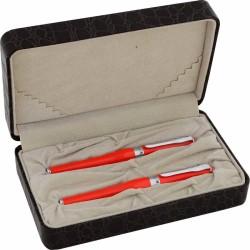 Düke - Duke 600 Dolma Kalem- Roller Kalem Seti Kırmızı