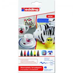 Edding - Edding 4200 Porselen Kalemi 6'lı Standart Renkler