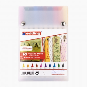 Edding - Edding 4600 10'lu Tekstil Kalem Seti 8091