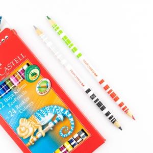 Faber Castell - Faber Castell 12 Renk Çift Uçlu (24 Renk) Boya Kalem Seti 120612 4189