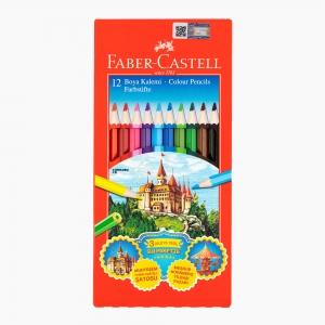 Faber Castell - Faber Castell 12 Renk Kuruboya Kalem Seti 0000071 4101