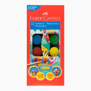 Faber Castell - Faber Castell 12 Renk Suluboya Seti 000069 4088