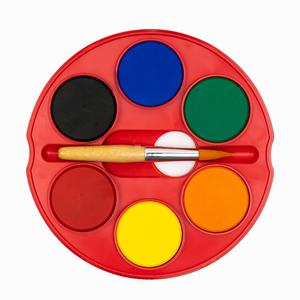 Faber Castell - Faber Castell 12'li 40mm Jumbo Sulu Boya Seti (6 Neon, 6 Parlak Renk, Çift Katlı) Fırça Hediyeli 5494 (1)