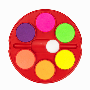 Faber Castell 12'li 40mm Jumbo Sulu Boya Seti (6 Neon, 6 Parlak Renk, Çift Katlı) Fırça Hediyeli 5494 - Thumbnail