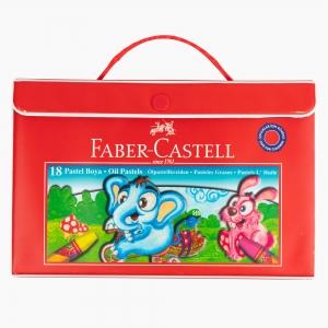 Faber Castell - Faber Castell 18 Renk Çantalı Pastel Boya Seti 125119 6095