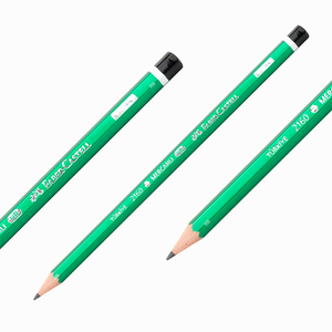 Faber Castell - Faber Castell 2160 HB Mercanlı Köşeli Ahşap Kurşun Kalem Yeşil 6000