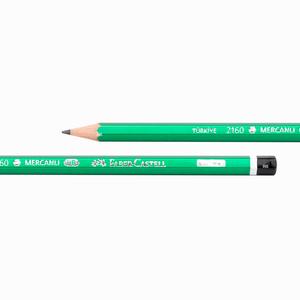 Faber Castell - Faber Castell 2160 HB Mercanlı Köşeli Ahşap Kurşun Kalem Yeşil 6000 (1)