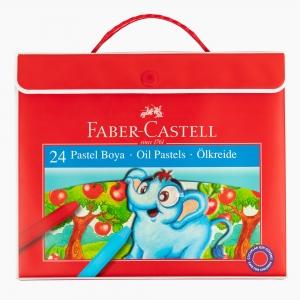 Faber Castell - Faber Castell 24 Renk Çantalı Pastel Boya Seti 125125 6125