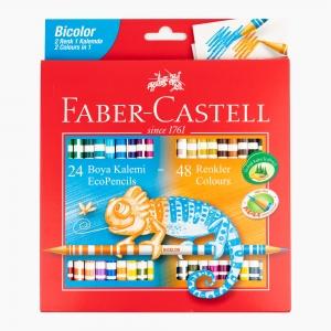 Faber Castell - Faber Castell 24 Renk Çift Uçlu (48 Renk) Boya Kalem Seti 120624 5137
