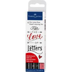 Faber Castell - Faber Castell 4'lü Pitt Artist Hand Lettering Set (#267115)
