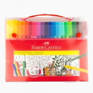 Faber Castell - Faber Castell 60 Eğlenceli Keçeli Kalem Boyama Seti 155062 8049
