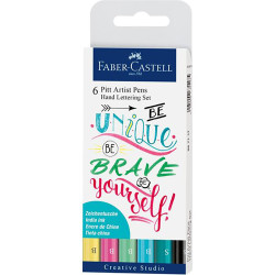 Faber Castell - Faber Castell 6'lı Pitt Artist Hand Lettering Set (#267116)
