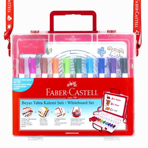 Faber Castell Çantalı Beyaz Tahta Kalem Seti (Eğitici Set) 3534