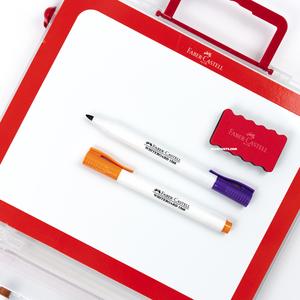 Faber Castell Çantalı Beyaz Tahta Kalem Seti (Eğitici Set) 3534 - Thumbnail