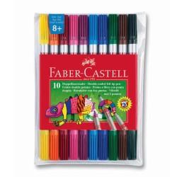Faber Castell - Faber Castell Çift Uçlu Keçeli Kalem 10 Renk