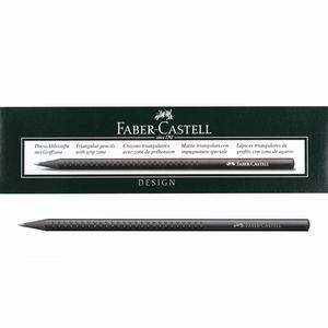 Faber Castell - Faber Castell Design Grip® 2001 B Mat Siyah Ahşap Kurşun Kalem 12'li Kutu 3161