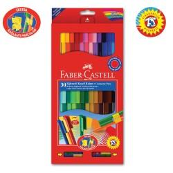 Faber Castell - Faber Castell Eğlenceli Keçeli Kalem 30 Renk