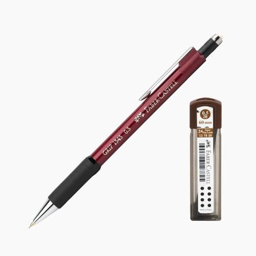 Faber-Castell Grip 1345 0.5 mm Mekanik Kurşun Kalem Kırmızı (Uç Hediyeli) 4502