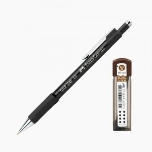 Faber Castell - Faber-Castell Grip 1345 0.5 mm Mekanik Kurşun Kalem Siyah (Uç Hediyeli) 4502