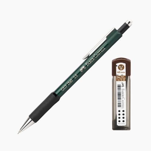 Faber-Castell Grip 1345 0.5 mm Mekanik Kurşun Kalem Yeşil (Uç Hediyeli) 4502