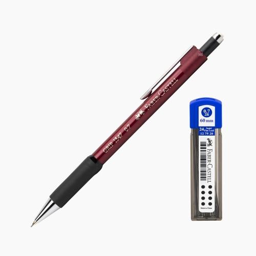 Faber-Castell Grip 1347 0.7 mm Mekanik Kurşun Kalem Kırmızı (Uç Hediyeli) 4700