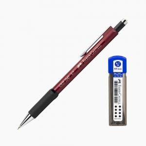 Faber Castell - Faber-Castell Grip 1347 0.7 mm Mekanik Kurşun Kalem Kırmızı (Uç Hediyeli) 4700