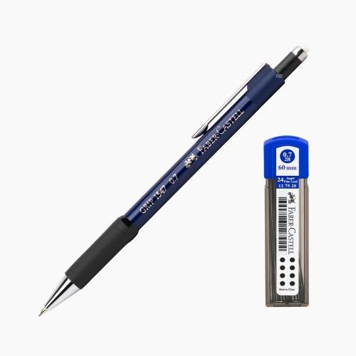 Faber-Castell Grip 1347 0.7 mm Mekanik Kurşun Kalem Mavi (Uç Hediyeli) 4700
