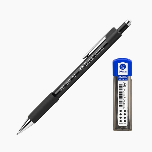 Faber-Castell Grip 1347 0.7 mm Mekanik Kurşun Kalem Siyah (Uç Hediyeli) 4700