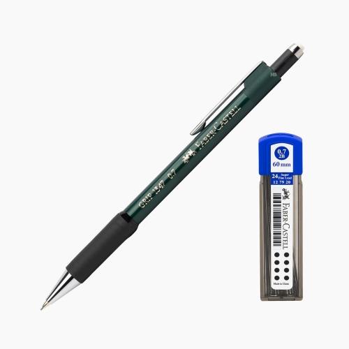 Faber-Castell Grip 1347 0.7 mm Mekanik Kurşun Kalem Yeşil (Uç Hediyeli) 4700